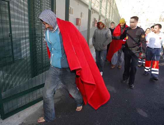 Llegada de inmigrantes a Motril