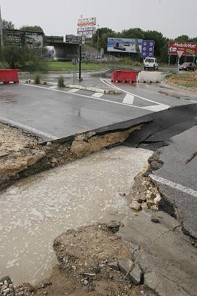 El temporal azota la provincia