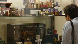 Exposición de libros en miniatura