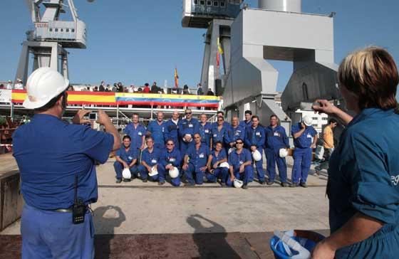 Navantia bota el primer buque para Venezuela
