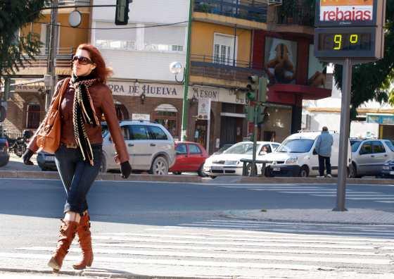 Las bajas temperaturas se hacen notar en Sevilla.  Foto: Victoria Hidalgo