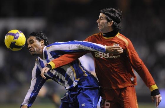 Bodipo pelea con Crespo.  Foto: Agencias