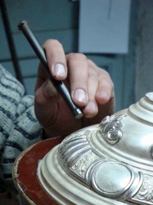 Cincelado de una pieza.  Foto: Juan Parejo