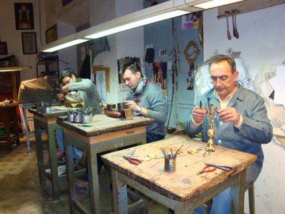 Aquí es donde se cincelan y montan las piezas.  Foto: Juan Parejo