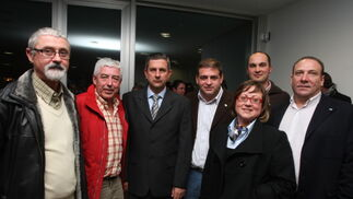 Representantes del Partido Andalucista  Foto: ERASMO FENOY / PACO GUERRERO