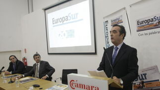 Momento en el que interviene Javier Moyano  Foto: ERASMO FENOY / PACO GUERRERO