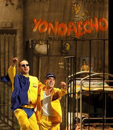 Morera y Carlos Meni, estrellas de la sesión de este sábado.   Foto: Jose Braza