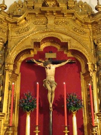 Cristo de la Salud de San Bernardo.  Foto: Juan Parejo