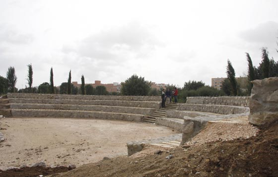 El auditorio, con reminiscencias romanas, para unas 300 personas.  Foto: Victoria Hidalgo