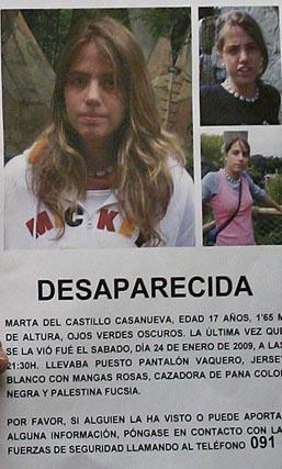 Marta del Castillo Casanueva desapareció el pasado sábado, 24 de enero.  Foto: Antonio Pizarro