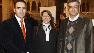 Rafael Navas, Blanca Yuste y Modesto Barragán, directores de 'Diario de Cádiz', Ser Cádiz y Canal Sur Cádiz  Foto: Jose Braza
