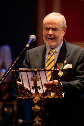Arcadio Ortega, medalla de oro de la ciudad.  Foto: Miguel Rodr?ez