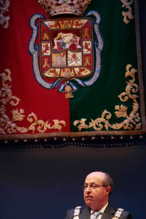 El alcalde, José Torres Hurtado, también pronunció uno de los discursos.  Foto: Miguel Rodr?ez