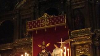 Quinario al Señor de la Oración en el Huerto en San Martín.  Foto: Juan Parejo