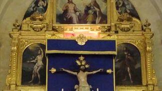 Quinario al Señor de la Exaltación en San Román.  Foto: Juan Parejo