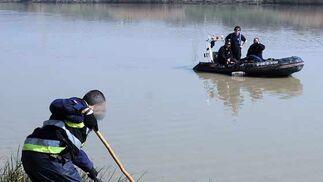 La Guardia Civil rastrea minuciosamente las orillas del río  Foto: Juan Carlos Vazquez/Victoria Hidalgo/Joso Angel Garcia
