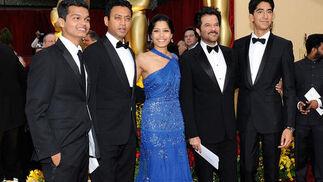 Parte del reparto de 'Slumdog Millionaire'.  Foto: AFP Photo / EFE / Reuters