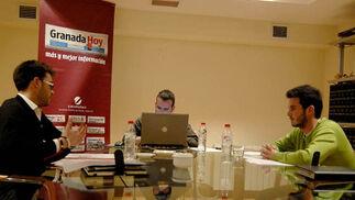 Un fructífero debate en la redacción de Granada Hoy
