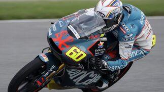 El español Julián Simon, durante el Gran Premio de Motociclismo.