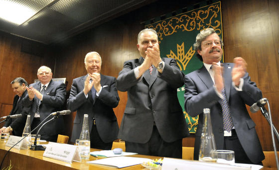 José Manuel Rodríguez Nuñez, Adolfo Arenas Castillo, José Luís García Palacios, José Manuel Calle González y Manuel Nieto Pérez.  Foto: Juan Carlos V?uez