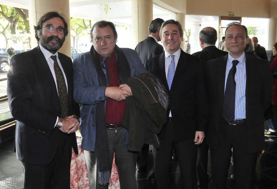 Javier María de Domingo, Antonio Arias, Antonio de Mora y Juan José Roca Muñoz.  Foto: J.C. Vázquez Y J.A. García