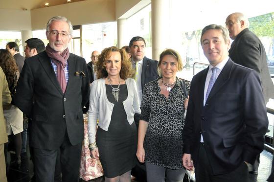 Juan Moreno, Carmen Carmona, Carmen Sánchez de la Madrid y Antonio de Mora Gutiérrez.  Foto: J.C. Vázquez Y J.A. García