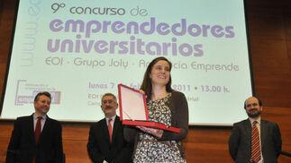 La ganadora del concurso, Clara de Miguel.  Foto: J.C. Vázquez Y J.A. García