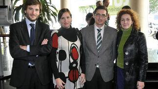 Diego Ortiz, Vanessa Bernad, José Luis Sánchez Teruel y María Amador Prieto.  Foto: J.C. Vázquez Y J.A. García