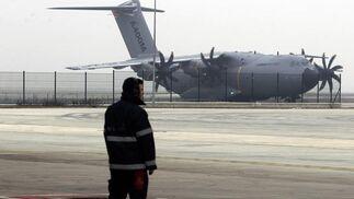 El avión militar A400M en pruebas.   Foto: Antonio Pizarro