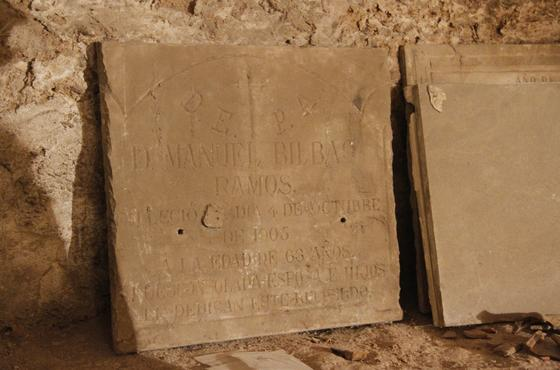Resto mudéjar hallada en la iglesia de San Luis de los Franceses durante su restauración.  Foto: Victoria Hidalgo