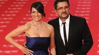 Andreu Buenafuente, presentador de la gala, junto a la actriz Silvia Abril. / EFE · Reuters · AFP