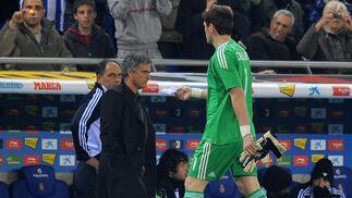 El Real Madrid vence en casa del Espanyol (0-1) y se pone a cinco puntos del Barcelona. / AFP