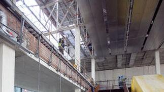 Estado de las obras de ampliación de Fibes, que espera estar en funcionamiento en los próximos meses.  Foto: Jaime Martínez