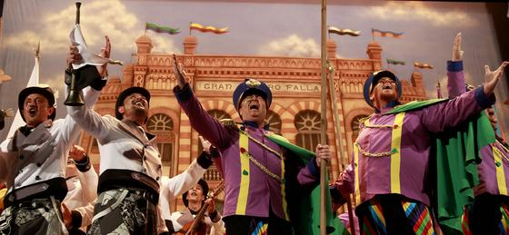 Coro 'La infantería'  Foto: Lourdes de Vicente