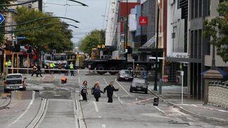 Al menos 17 personas han muerto en el sur de Nueva Zelanda a causa del seísmo de 6,3 grados que ha sacudido la ciudad.  Foto: Kirsty Graham