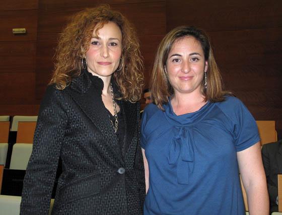 Las empresarias Teresa Iglesias y Rocío Cid, socias fundadoras de 'Andalucía 5 Sentidos'.  Foto: Victoria Ramírez