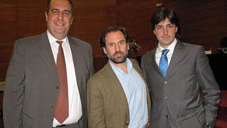 Salvador Pallarés Bejarano (ITsyx Ingeniería Informática); Jesús Bores Lazo (Boleo Global), y Héctor Martínez Morell (Royal Comunicación).  Foto: Victoria Ramírez