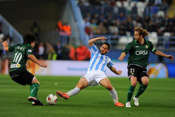 El Betis vence al Málaga en La Rosaleda (0-2). / AFP