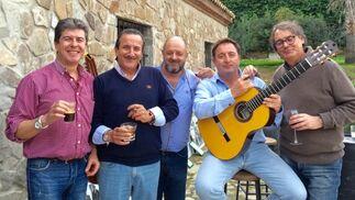 Adrián Seguro, Antonio Martín Dubois, Juan Pablo Rodríguez-Sánchez Wagener, Ignacio Fernández Loaysa y Antonio Velázquez.  Foto: Ignacio Casas de Ciria