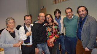 Carmen Morillo, Idelfonso Marqués, Paulino Campos, Carmen Romero, Fabián Santana, David Fernández y Alberto Grimaldi.  Foto: Ignacio Casas de Ciria