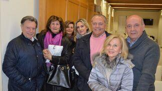 Manuel  Gónzalez , Cristina Bertelsen, Aurora Martínez, Lourdes Serrano, Ernesto Martínez, Mary Espada y Pedro Barberá.  Foto: Ignacio Casas de Ciria