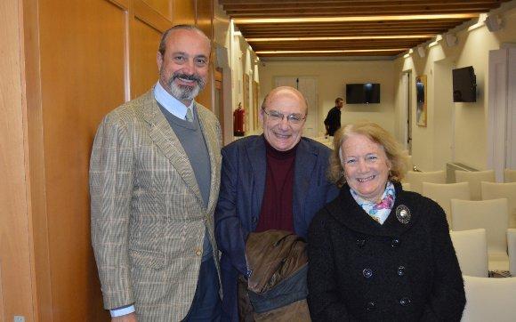 José Ramón Fernández de Mesa, José Caravaca y Aurora Montero.   Foto: Ignacio Casas de Ciria