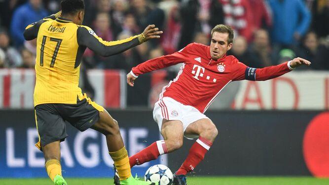Un momento del Bayern-Arsenal
