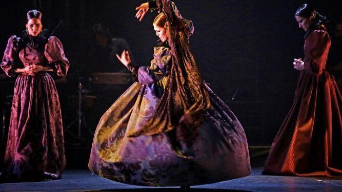 La bailaora granadina, en un momento del espectáculo.