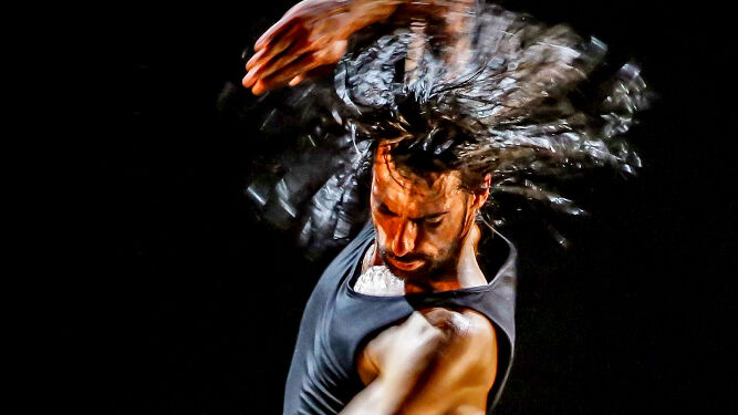 El bailaor gaditano durante su actuación en el pasado Festival de Jerez