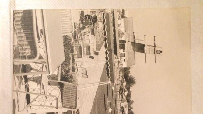 Imagen de archivo de la construcción del trampolín.