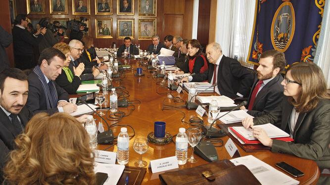 Reunión del consejo rector de Las Aletas que aprobó la reserva anulada.
