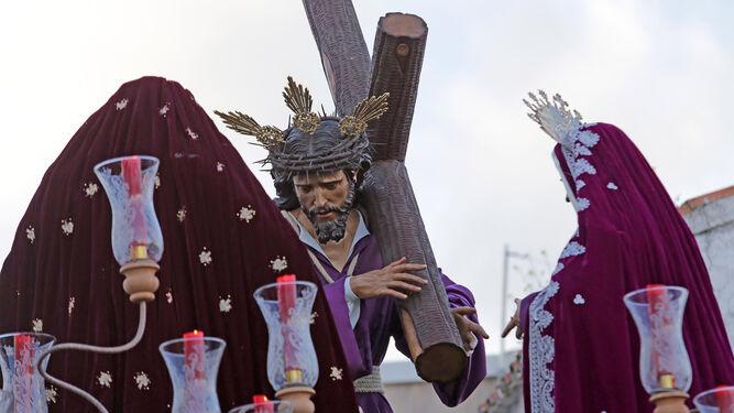 El Señor de la Entrega el Sábado de Pasión del pasado año, por las calles de Guadalcacín.