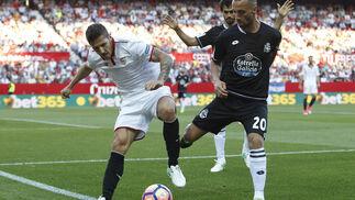 El Sevilla FC-Deportivo de La Coruña, en imágenes
