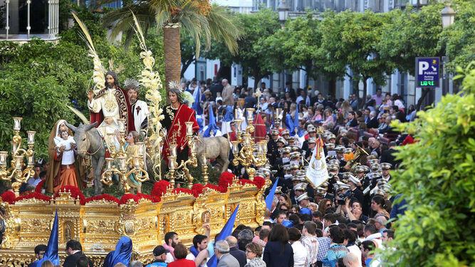 La Borriquita, en una imagen de archivo en la calle Larga